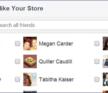 how to invite your friends to like your stores Facebook page
