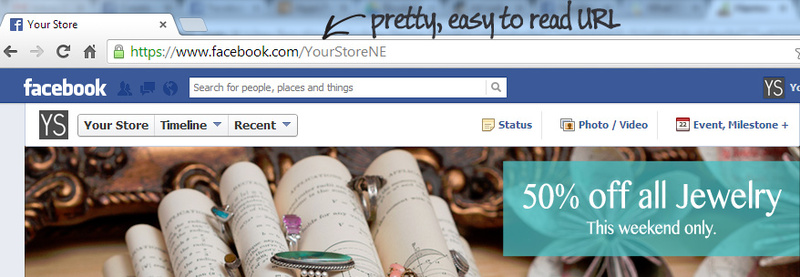 how to set up a pretty url for your Facebook