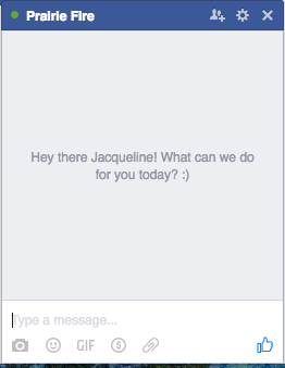 facebook marketing chat auto response