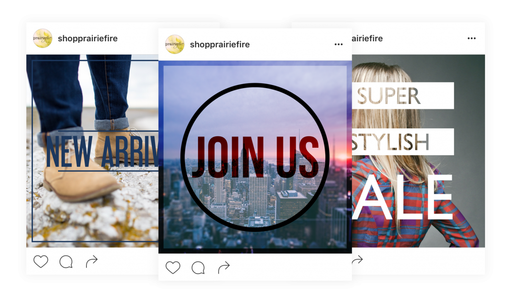 schedule instagram posts and share custom social media content with boutique window