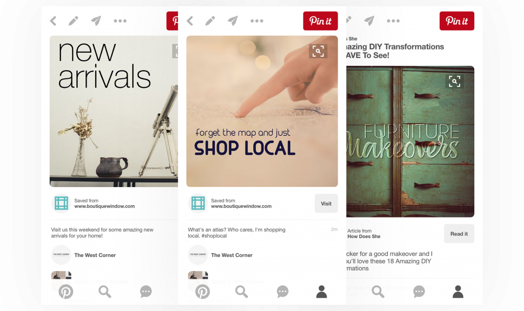 schedule pinterest pins and share custom social media content with boutique window