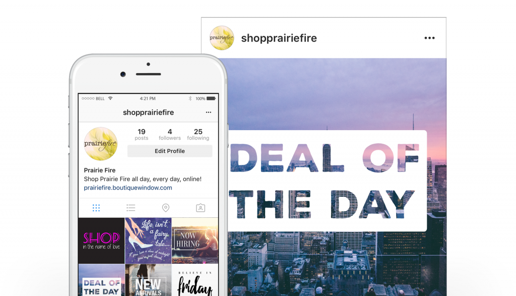 scheduling instagram posts saves time with boutique window
