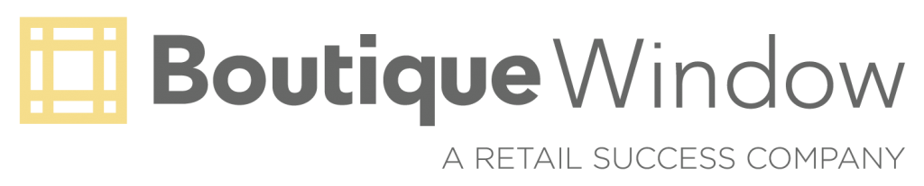 boutique window logo website header