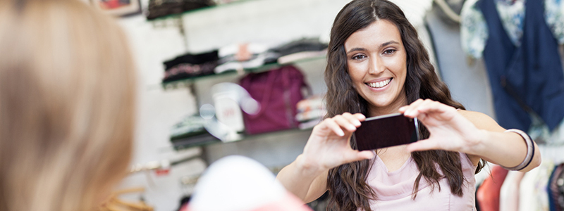 email photos to your boutique window from your mobile device