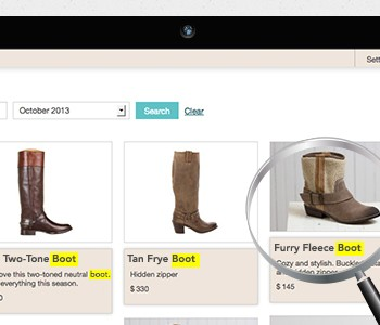 new feature search items in your boutique window
