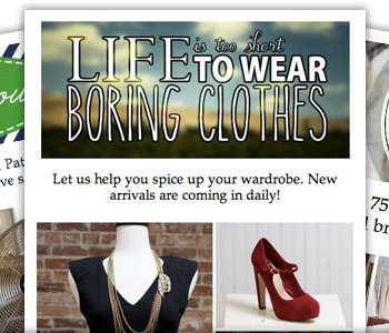 new email header graphics for bridal resale fashion and st. patricks day 2014