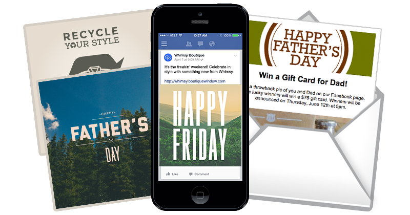 new content for fathers day fridays and resale stores feature