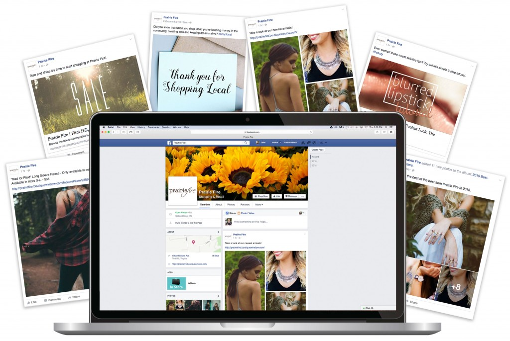 social media marketing facebook macbook